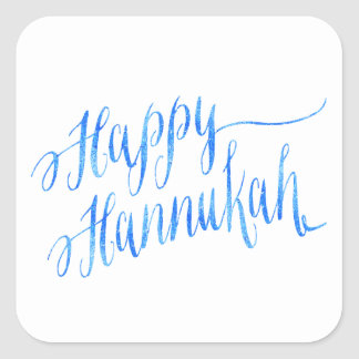 Happy Hanukkah Chanukah HANNUKKAH HANUKA Square Sticker