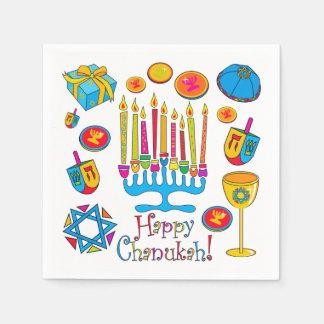Happy Hanukkah - Chanukah Napkin Paper Serviettes
