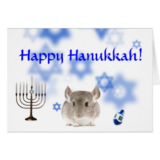 Happy Hanukkah Chinchilla card