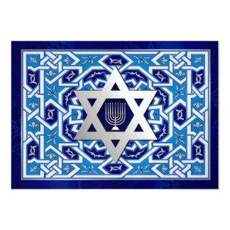 Happy Hanukkah. Custom Flat Greeting Cards 13 Cm X 18 Cm Invitation Card