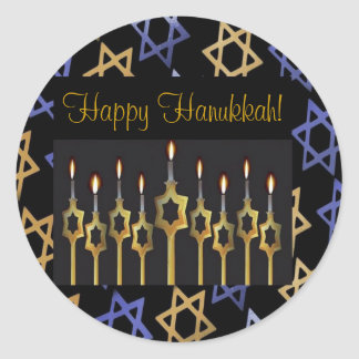 Happy Hanukkah! Custom Large Sticker Template