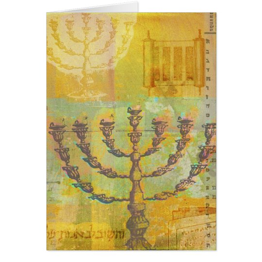 Happy Hanukkah Customisable GIfts and Tees Card