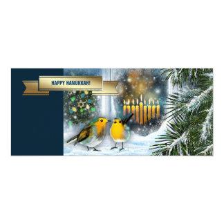 Happy Hanukkah. Customizable Greeting Cards 10 Cm X 24 Cm Invitation Card