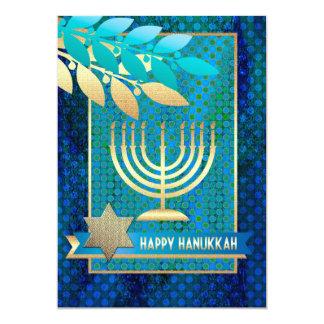 Happy Hanukkah. Customizable Greeting Cards 13 Cm X 18 Cm Invitation Card
