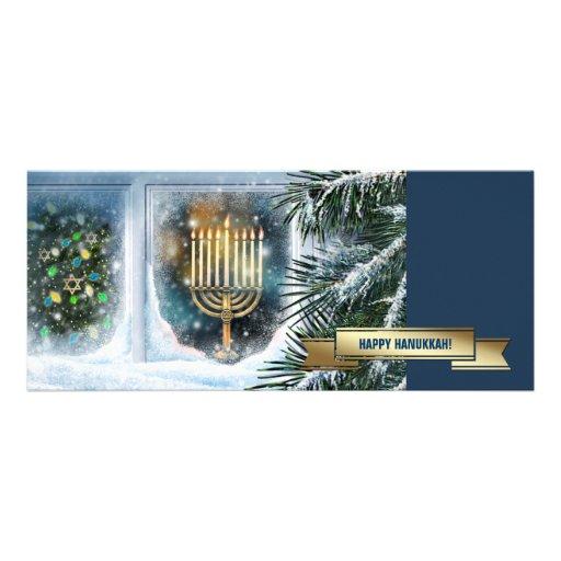 Happy Hanukkah. Customizable Greeting Cards