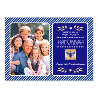 Happy Hanukkah. Customizable Photo Cards 13 Cm X 18 Cm Invitation Card
