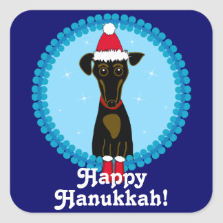 Happy Hanukkah Dachshund Stickers