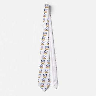 Happy Hanukkah Dancing Dreidels Jelly Doughnut Tie