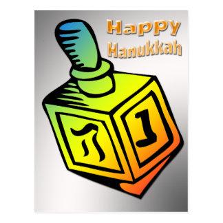 Happy Hanukkah - Dreidel Postcard