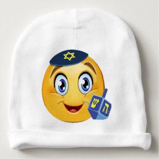 Happy Hanukkah Emoji Baby Beanie