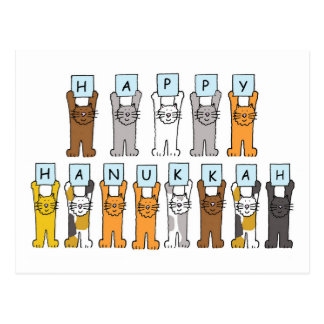 Happy Hanukkah for cat lovers. Post Cards