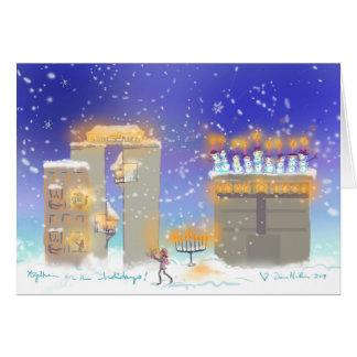 Happy Hanukkah from Hanukkahville Greeting Card