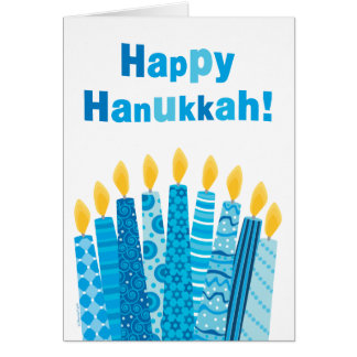 Happy Hanukkah Funky Menorah Candles Card