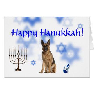 Happy Hanukkah German Shepherd Cards