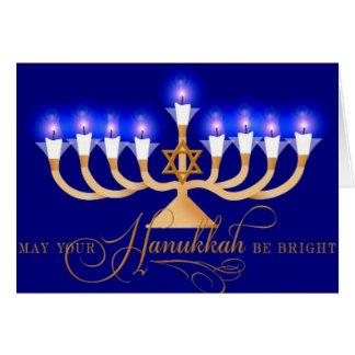 Happy Hanukkah German Shepherd Greeting Card
