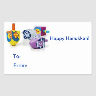 Happy Hanukkah Gift Label Stickers