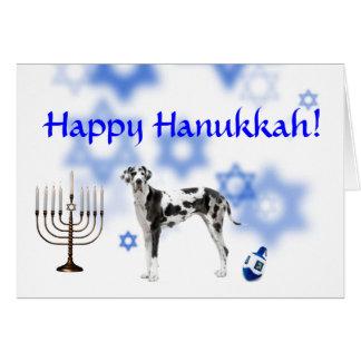 Happy Hanukkah Great Dane Greeting Cards