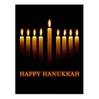Happy Hanukkah greeting card with candles Postcard