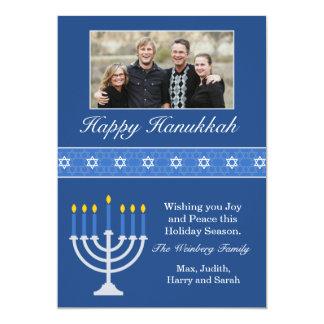 Happy Hanukkah Holiday Card Personalized Invitations