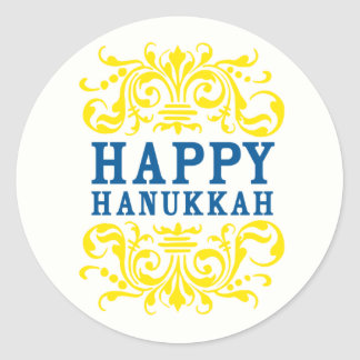 Happy Hanukkah Holiday Stickers
