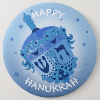 HAPPY HANUKKAH HOLIDAYS Colossal, 6 Inch 6 Cm Round Badge
