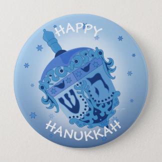 HAPPY HANUKKAH HOLIDAYS Huge, 4 Inch 10 Cm Round Badge