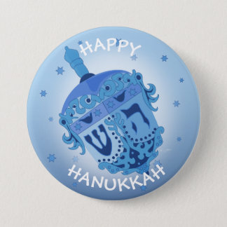 HAPPY HANUKKAH HOLIDAYS Large, 3 Inch 7.5 Cm Round Badge