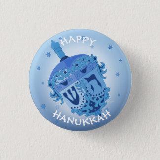 HAPPY HANUKKAH HOLIDAYS Small, 1¼ Inch 3 Cm Round Badge