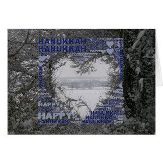 Happy Hanukkah Holidays Snow Photo Greeting Card