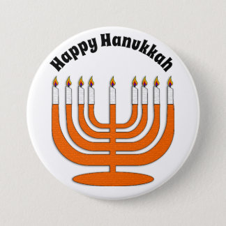 Happy Hanukkah Jewish Holiday Button