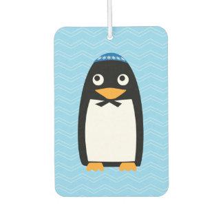 Happy Hanukkah Jewish Penguin Yarmulke Car Air Freshener
