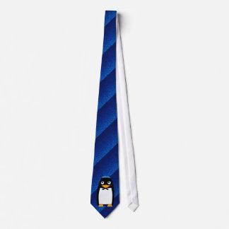 Happy Hanukkah Jewish Penguin Yarmulke Tie