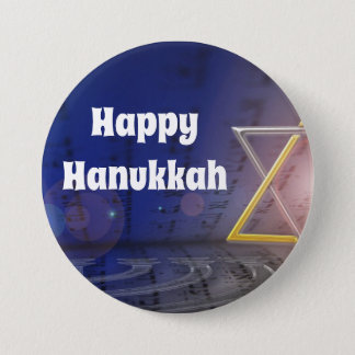 Happy Hanukkah  Judaism Button