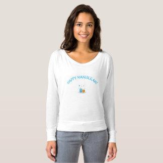 Happy Hanukkah Ladies Long Sleeve Tee Shirt