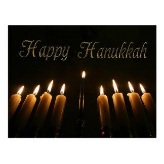 Happy Hanukkah Lamp Menorah Lights Candles Postcard