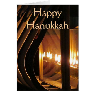 Happy Hanukkah Lights Card