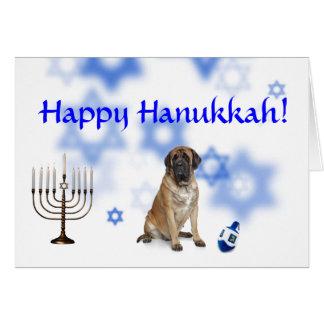 Happy Hanukkah Mastiff Greeting Card