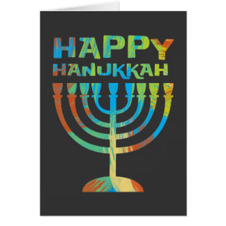Happy Hanukkah Menorah Greeting Cards