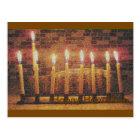 Happy Hanukkah Menorah Post Card