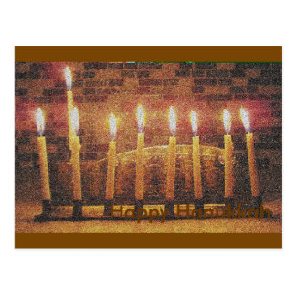 Happy Hanukkah Menorah Post Card