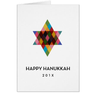 Happy Hanukkah Modern Star of David Greeting Card