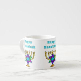 Happy Hanukkah 6 Oz Ceramic Espresso Cup