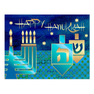 Happy Hanukkah. Personalized Hanukkah Postcards