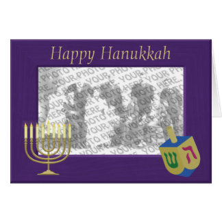 Happy Hanukkah Photo Frame Greeting Card