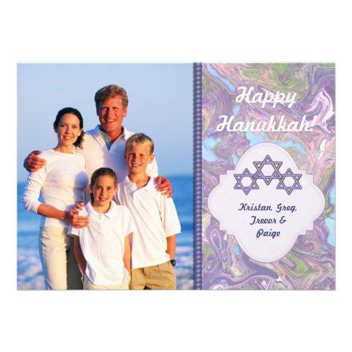 Happy Hanukkah Photo Greetings - Groupon Custom Announcements