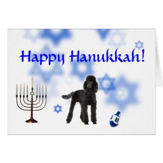 Happy Hanukkah poodle Card