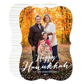 Happy Hanukkah Script Photo Card