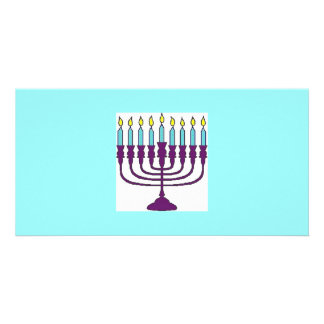 Happy Hanukkah Shalom Custom Photo Card