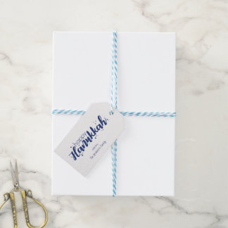 Happy Hanukkah Snow Bubbles Holiday Gift Tags