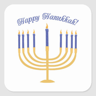 Happy Hanukkah! Square Sticker